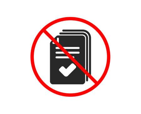 Ilustración de No or Stop. Handout icon. Documents example sign. Prohibited ban stop symbol. No handout icon. Vector - Imagen libre de derechos