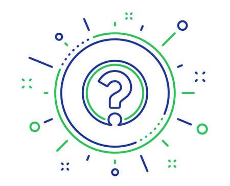 Illustration pour Question mark line icon. Support help sign. FAQ symbol. Quality design elements. Technology question mark button. Editable stroke. Vector - image libre de droit