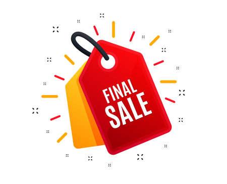 Ilustración de Sale tag. Final Sale. Special offer price sign. Advertising Discounts symbol. Shopping banner. Market offer. Vector - Imagen libre de derechos