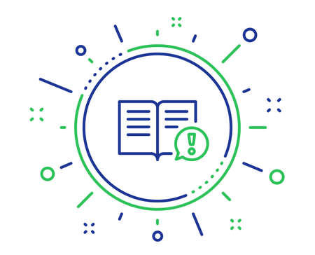 Ilustración de Interesting facts line icon. Exclamation mark sign. Book symbol. Quality design elements. Technology facts button. Editable stroke. Vector - Imagen libre de derechos