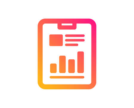 Illustration pour Report document icon. Analysis Chart or Sales growth sign. Statistics data symbol. Classic flat style. Gradient report document icon. Vector - image libre de droit