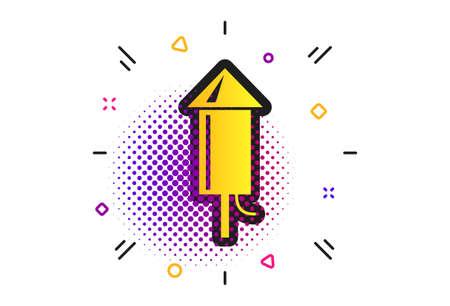 Illustration for Fireworks rocket sign icon on white - Royalty Free Image