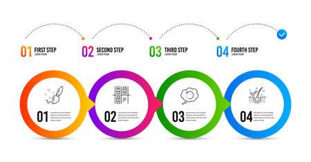 Ilustración de Recovery data, Paint brush and Parking place line icons set. - Imagen libre de derechos