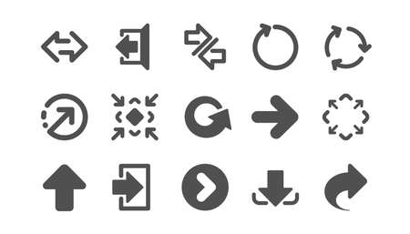 Illustration pour Arrow icons. Download, Synchronize and Share. Navigation classic icon set. Quality set. Vector - image libre de droit