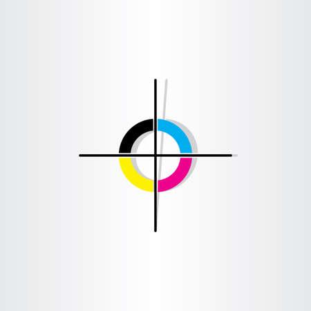 Illustration pour offset printing registration mark illustration design - image libre de droit