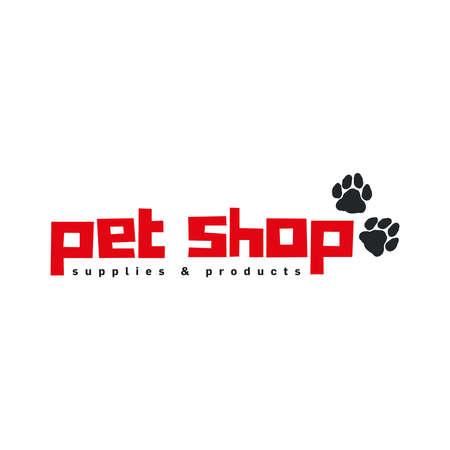 Pet shop logo vector template design