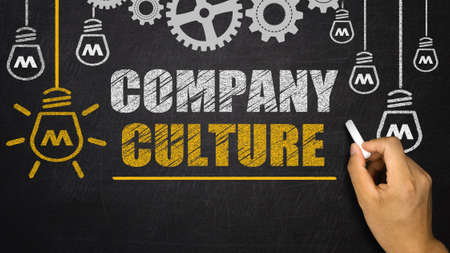 Photo pour Company Culture concept on blackboard - image libre de droit