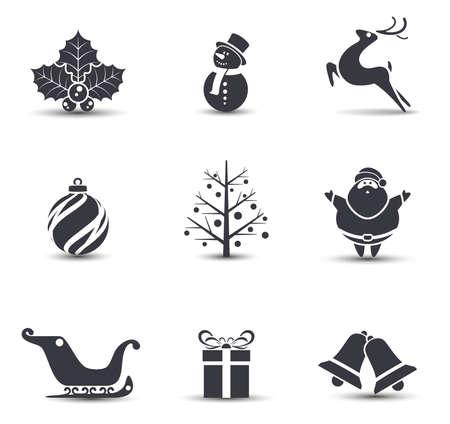 Vector Christmas icons.