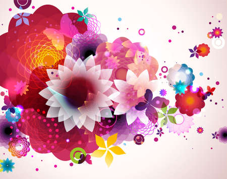 Illustration pour Abstract floral spring background.  - image libre de droit
