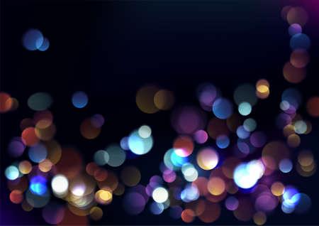 Christmas blurred lights background. Vector Illustration.
