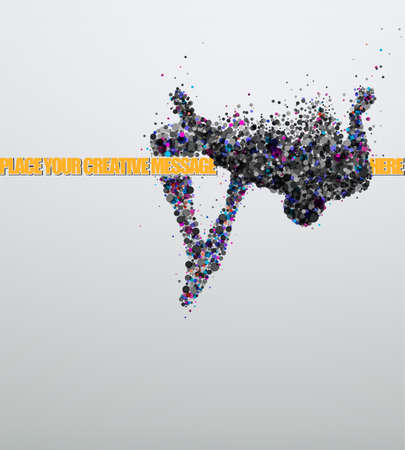 Photo for High jump  Creative vector Illustration   - Royalty Free Image