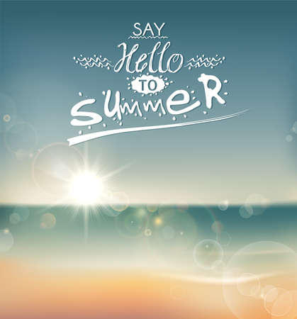 Say Hello to Summer, creative graphic message for your summer design