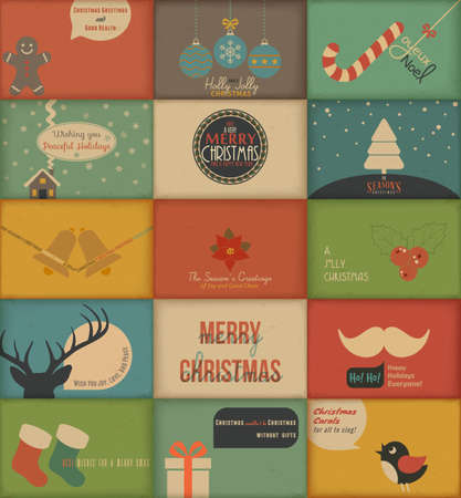 Collection of retro Holidays cards