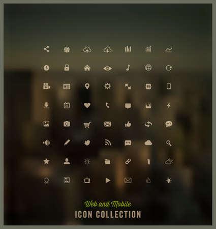 Ilustración de Web and Mobile icon collection - Imagen libre de derechos