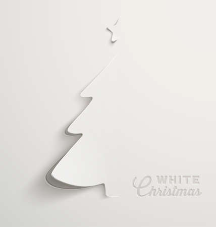 Illustration pour White Christmas, minimal Christmas card design - image libre de droit