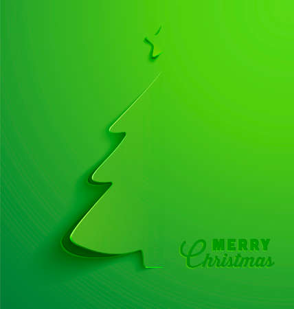 Illustration pour Christmas Greeting Card, Christmas tree. - image libre de droit