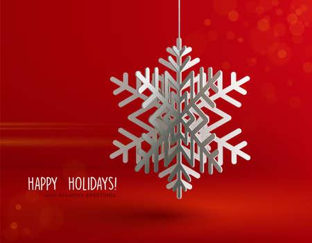 Illustration pour Paper 3d snowflakes background Vector illustration. - image libre de droit
