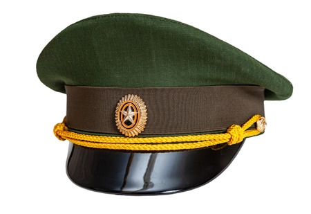 Photo for Uniform cap of Russian army officer isolated on white background - Royalty Free Image