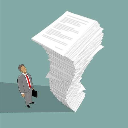 Illustration pour image of stack of paper - image libre de droit