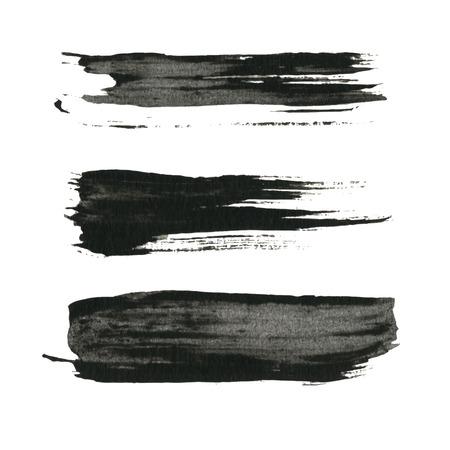 Illustration pour Grunge paint black ink brush background - image libre de droit