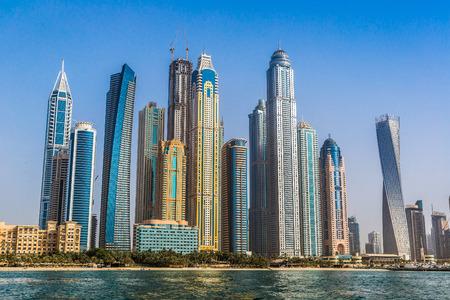 Photo pour Modern buildings in Dubai Marina, Dubai, UAE in a summer day - image libre de droit