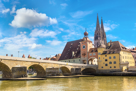 Photo for Regensburg and Cathedral, Germany in a beautiful summer day - Royalty Free Image