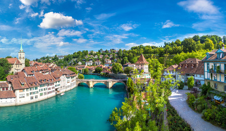 Photo for Panoramic view of Bern in a beautiful summer day, Switzerland - Royalty Free Image