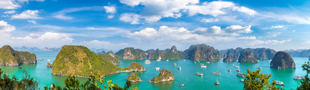 Photo for Panorama of Halon bay, Vietnam in a summer day - Royalty Free Image