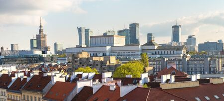 Foto de Panoramic view of Warsaw in a summer day n Poland - Imagen libre de derechos