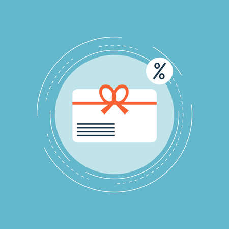 Illustration pour Gift card, special offer, bonus card, discount coupon, premium card flat vector illustration design for web banners and apps - image libre de droit