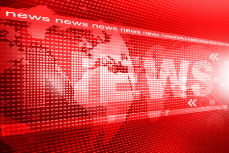 Photo for words News on digital red background - Royalty Free Image