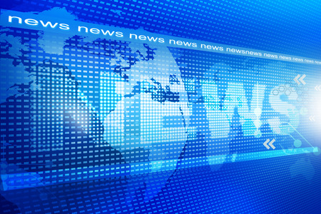 Photo for words News on digital blue background - Royalty Free Image