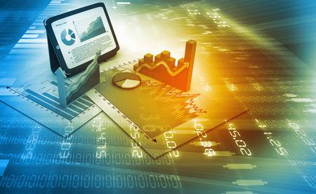 Foto de Stock market graphs - Imagen libre de derechos