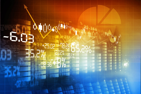 Foto de Financial background , stock market chart - Imagen libre de derechos