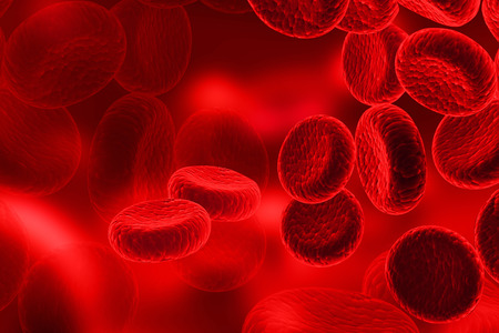Foto de Red Blood Cells, streaming of human blood cells - Imagen libre de derechos