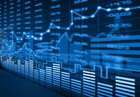 Foto de Stock market chart - Imagen libre de derechos
