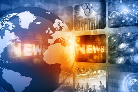 Photo for Best design of Global news - Royalty Free Image