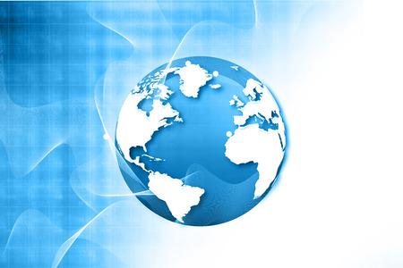 Foto de Globalization of fiber optics , Hi-tech technological background - Imagen libre de derechos