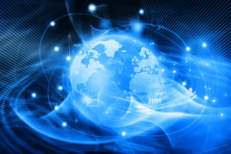Foto für Futuristic background of Global business network, internet, Globalization concept - Lizenzfreies Bild