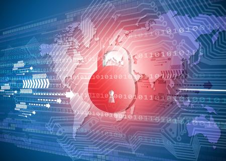 Foto de Global Cyber security concept - Imagen libre de derechos