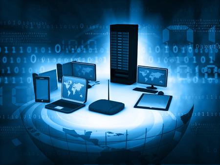 Foto de Computer Network and internet communication concept - Imagen libre de derechos