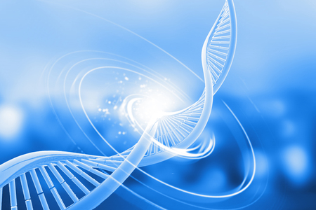 Foto de Dna on abstract background. 3d illustration 	 - Imagen libre de derechos