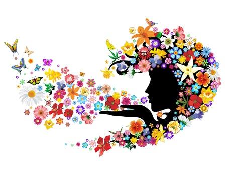 Spring Breath Flowers Mother Nature Portrait