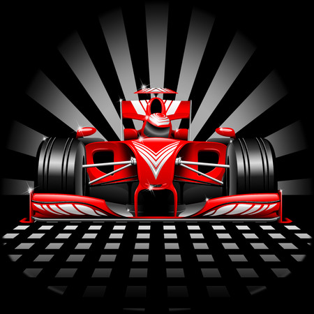 Foto de Formula 1 Red Race Car - Imagen libre de derechos