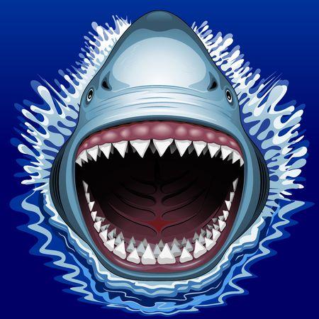 Ilustración de Shark Jaws Attack - Imagen libre de derechos