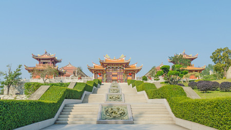 Photo for A-Ma cultural village and blue sky  in macau china - Royalty Free Image