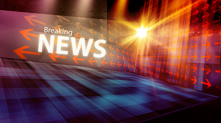 Photo for Graphical digital news background with arrows and news text - Royalty Free Image
