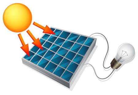 Ilustración de Illustration showing the solar cell concept - Imagen libre de derechos