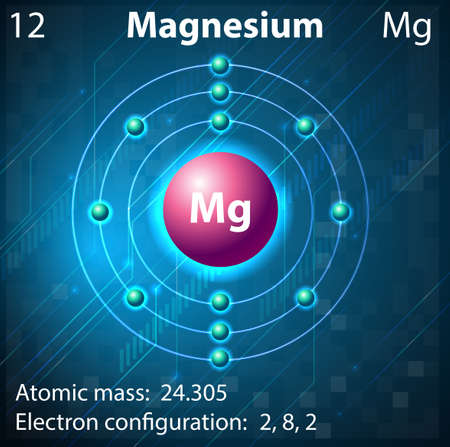 Illustration pour Illustration of the element Magnesium - image libre de droit