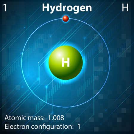 Illustration pour Illustration of the element Hydrogen - image libre de droit